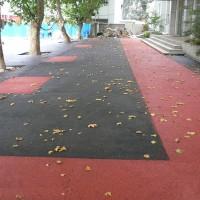 南京露骨料彩色透水地坪的施工流程