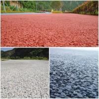 重慶市彩色透水混凝土;透水膠粉材料廠家;壓花地坪;